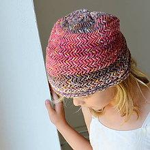 Detské čiapky - detská čiapka RIASENÁ malinový melír - 11052358_