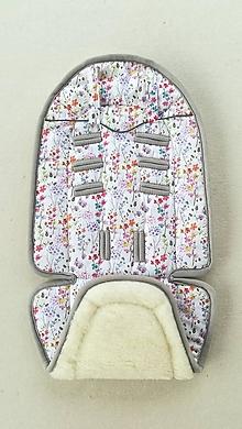 Textil - Joolz HUB Seat Liner / Podložka do kočíka kvietkovaná na mieru FLOWERS - 11050669_