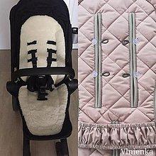 Textil - Joolz HUB Seat Liner / Podložka do kočíka staroružová na mieru DUSTY PINK - 11050762_