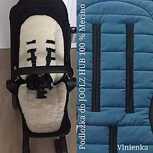 Textil - Joolz HUB Seat Liner / Podložka do kočíka modrá na mieru INDIGO - 11050874_