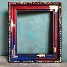 Rámiky - farebný starý drevený rám - 11050515_