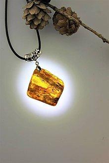 Náhrdelníky - jantár prívesok - kameň jantáru 37x40mm - 11051029_