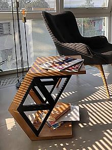 Nábytok - Drevený stolík - TRIANGELS - 11051243_