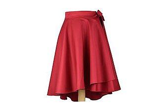 Sukne - ANNA - ELEGANTNÁ asymetrická zavinovacia sukňa (novinka - Tmavočervená) - 11053516_