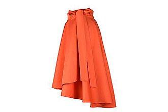 Sukne - ANNA - ELEGANTNÁ asymetrická zavinovacia sukňa (novinka - Oranžová) - 11053533_