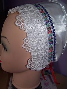 Iné doplnky - svadobný ľudový  čepiec - 11052588_