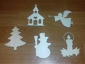 Polotovary - Vianoce - drevené výseky-výrezy - 11050205_