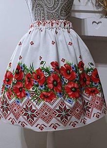 Sukne - Folklórna sukňa-maky - 11051105_
