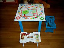 Detské doplnky - Hrací stolík so stolčekmi - 11051822_