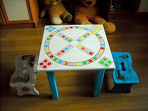 Detské doplnky - Hrací stolík so stolčekmi - 11051813_