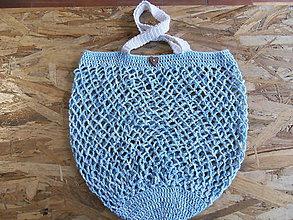 Nákupné tašky - Trendová háčkovaná bavlnená sieťovka - 11051990_