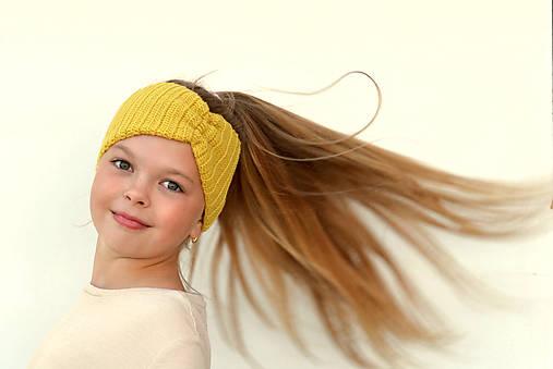 Merino čelenka žltá do vetra +42 farieb