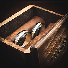 Prstene - drevená obrúčka - javor / eben - 11053388_