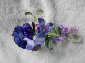 Ozdoby do vlasov - Hrebienok modrý príliv - 11050192_