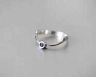 Prstene - Moderní stříbrný prstýnek LARS Blue - 11051832_