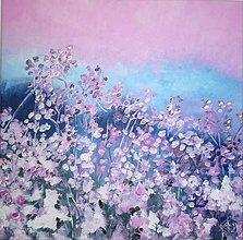 Obrazy - Pink meadow... - 11052691_