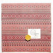 Úžitkový textil - Voskový obrúsok - Krížiková výšivka - 11051636_