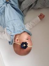 Detské doplnky - čelenka modrý kvet - 11049941_