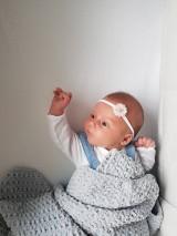 Detské doplnky - čelenka ružový kvietok - 11049943_