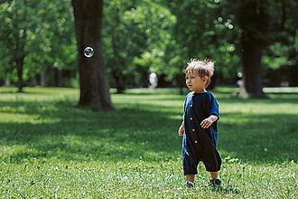 Detské oblečenie - Overal z konope a biobavlny - 11051824_