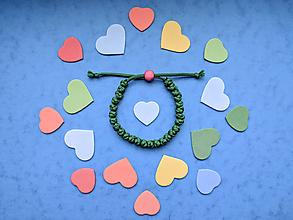 Náramky - Knotky náramok zelený - 11051004_