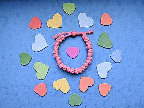 Náramky - Knotky náramok ružový - 11051035_