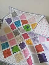 Textil - farebná detska deka - 11050493_