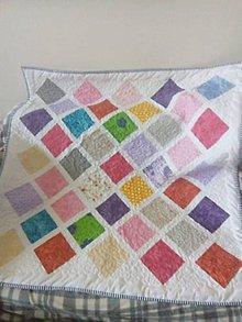 Textil - farebná detska deka - 11050492_