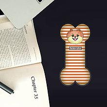 Papiernictvo - Psia záložka do knihy - pásiky (špic) - 11053427_
