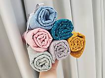 Textil - Veĺká mušelínová osuška 120x120cm z dvoch vrstiev obojstranna hrubšia - 11056904_