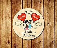 Darčeky pre svadobčanov - Svadobná magnetka - 11056679_