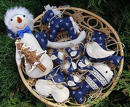 Dekorácie - folk sada modrá - 11057403_