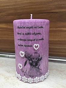 Svietidlá a sviečky - Dekoračná sviečka s venovaním - 11057591_