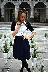 Sukne - Zavinovací sukně ANJA, indigo modrá - 11057328_