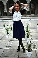 Sukne - Zavinovací sukně ANJA, indigo modrá - 11057329_