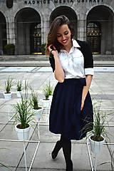 Sukne - Zavinovací sukně ANJA, indigo modrá - 11057330_