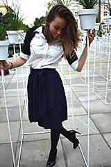 Sukne - Zavinovací sukně ANJA, indigo modrá - 11057331_