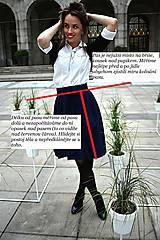 Sukne - Zavinovací sukně ANJA, indigo modrá - 11057364_