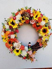 Dekorácie - Jesenný veniec - 11056779_
