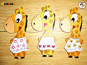 Magnetky - Magnetka - žirafa - 11057470_