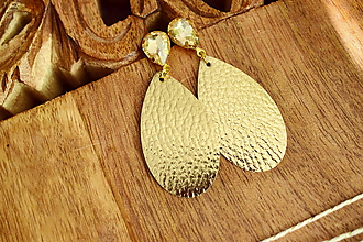 Náušnice - Náušnice Sarah- metalic gold - 11057491_