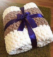 Úžitkový textil - Pletena deka - 11055543_