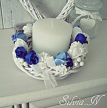 Dekorácie - Dekorácia v modrom. - 11054862_