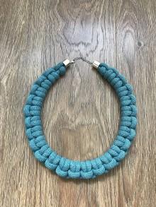 Náhrdelníky - Viazaný náhrdelník -VII. (Tyrkysová) - 11055615_