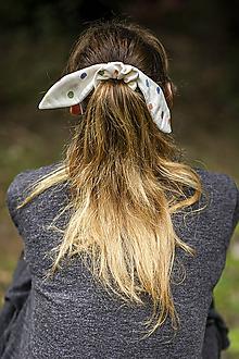 Ozdoby do vlasov - Scrunchie - Gumka bodkovaný Zajko - 11054050_