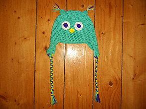 Detské čiapky - Detská háčkovaná jesenná čiapka - sovička - 11054128_