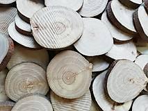 Drevené plátky - jabloň - priemer cca 4 cm
