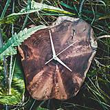 Hodiny - RAW - Akáciové drevené hodiny - 11053806_