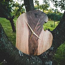 Hodiny - RAW - Orechové drevené hodiny - 11053805_