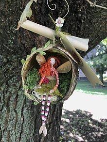 Socha - Víla Enelína Olívia (závesná dekorácia) - 11055748_